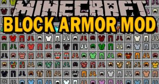 Block Armor Mod 1 Minecraft Mods, Resource Packs, Maps